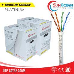 Dây cáp mạng Golden Link Platinum UTP Cat5e màu trắng